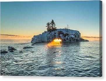 Dragon's Breath  // North Shore, Lake Superior Canvas Print by Nicholas Parker