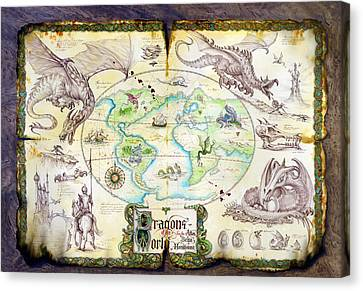 Dragons Of The World Canvas Print by The Dragon Chronicles - Garry Wa