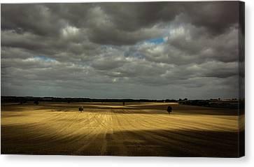 Dramatic Farmland Canvas Print by Chris Fletcher