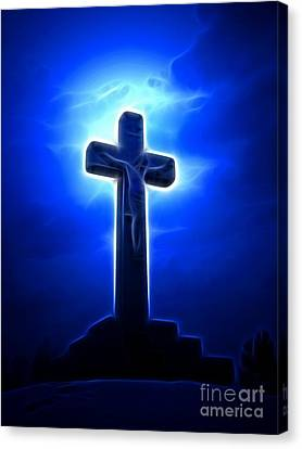 Dramatic Jesus Crucifixion Canvas Print by Pamela Johnson