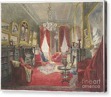 Drawing Room Of The Fogg Residence Canvas Print by Roswell Morse