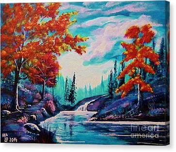 Dream Along The Riverside Canvas Print by Mario Lorenz