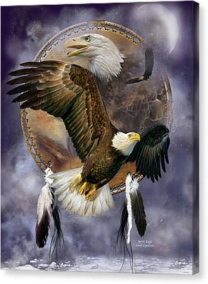 Dream Catcher - Spirit Eagle Canvas Print by Carol Cavalaris