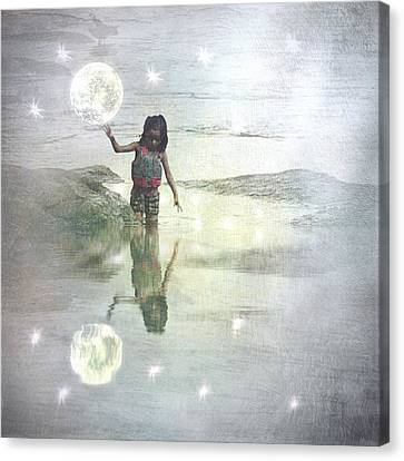 To Touch The Moon Canvas Print by Melissa D Johnston