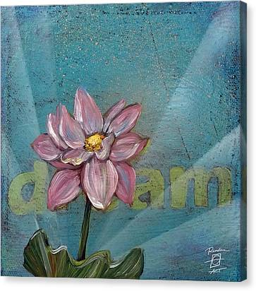 Dream Lotus Canvas Print by Andrea LaHue
