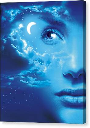 Dreaming, Conceptual Image Canvas Print by Smetek