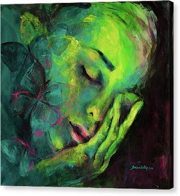 Dreaming Of Butterflies Canvas Print by Dorina Costras