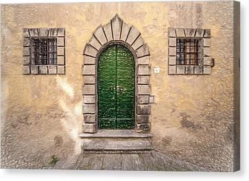 Dreaming Of Cortona Canvas Print by David Letts