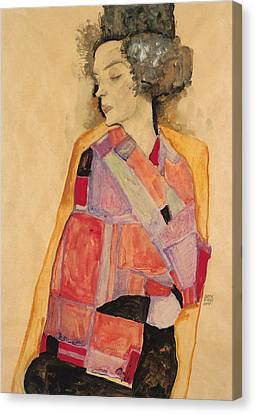 Dreaming Woman Canvas Print by Egon Schiele