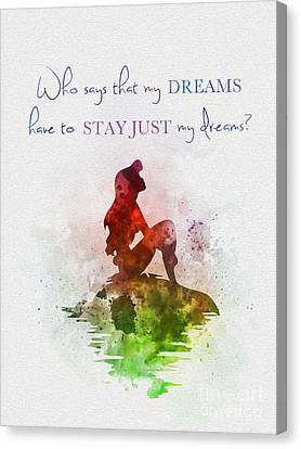 Dreams Canvas Print by Rebecca Jenkins