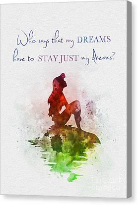 Dreams Canvas Print by Rebecca Jenkins