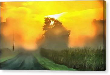 Dreamy Country Morning Canvas Print by Dan Sproul