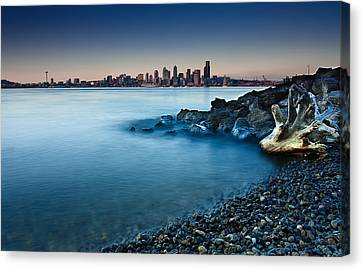 Dreamy Seattle Skyline Canvas Print by Sanyam Sharma