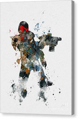 Dredd Canvas Print by Rebecca Jenkins