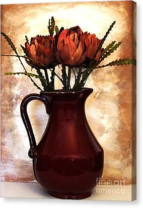 Dried Artichokes Canvas Print by Marsha Heiken