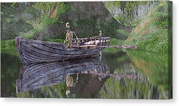 Drifter On The Lake Canvas Print by Betsy Knapp