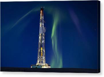 Drilling Rig Saskatchewan Canvas Print by Mark Duffy