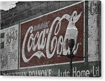 Drink Coca Cola Roanoke Virginia Canvas Print by Teresa Mucha