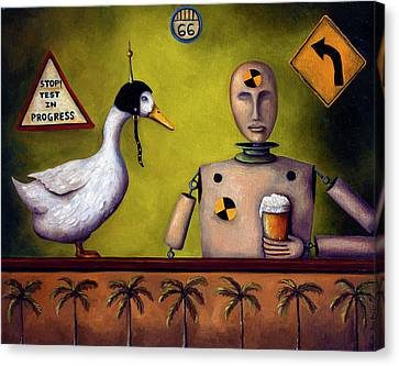 Drink Test Dummy Canvas Print by Leah Saulnier The Painting Maniac