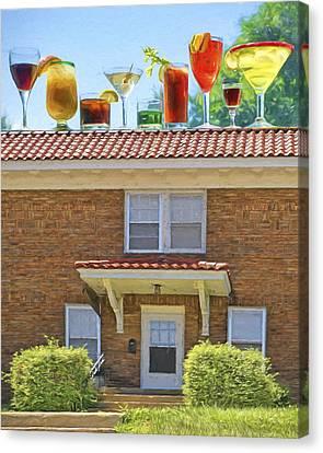 Drinks On The House Canvas Print by Nikolyn McDonald