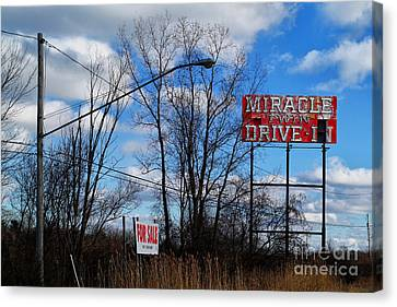 Drive-in For Sale Canvas Print by Jeff Holbrook