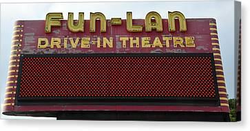 Drive Inn Theatre Canvas Print by David Lee Thompson