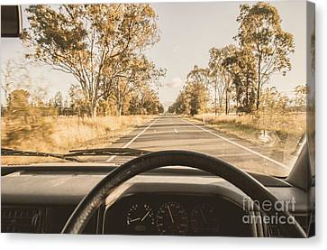 Driving On Rural Australian Road Canvas Print by Jorgo Photography - Wall Art Gallery
