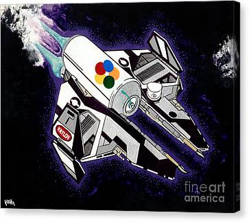 Drobot Space Fighter Canvas Print by Turtle Caps