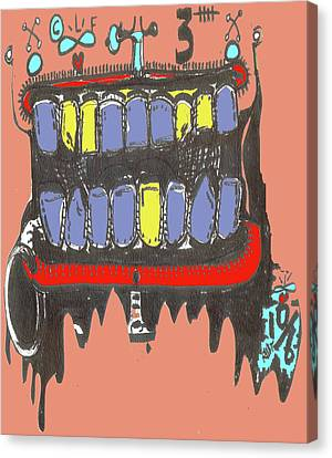 Drool Canvas Print by Robert Wolverton Jr