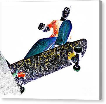 Dropping In Canvas Print by Meirion Matthias