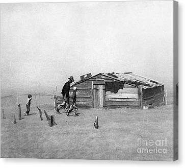 Drought: Dust Storm, 1936 Canvas Print by Granger