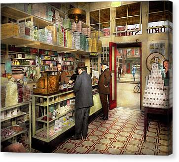Drugstore - Exact Change Please 1920 Canvas Print by Mike Savad