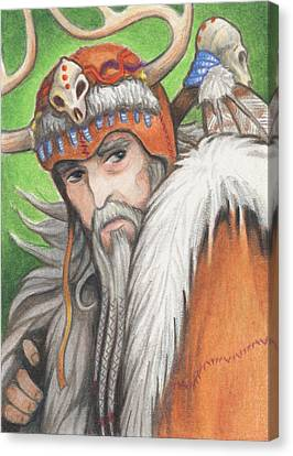 Druid Priest Canvas Print by Amy S Turner