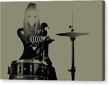 Drummer Canvas Print by Naxart Studio