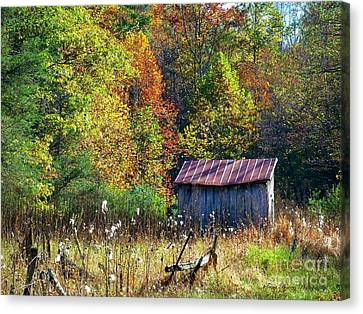 Dry Run In October Canvas Print by Teena Bowers