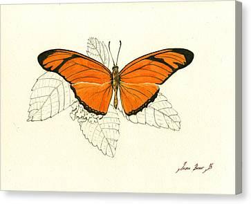 Dryas Iulia, Orange Julia Butterfly Canvas Print by Juan Bosco
