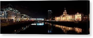 Dublin Quays By Night Canvas Print by Joe Houghton