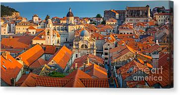 Dubrovnik Panorama Canvas Print by Inge Johnsson