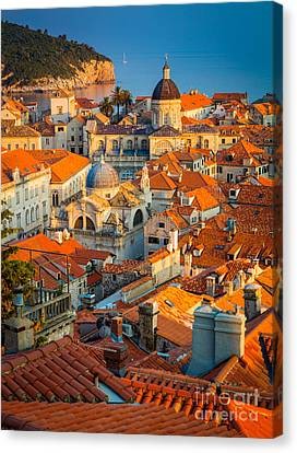 Dubrovnik Sunset Canvas Print by Inge Johnsson