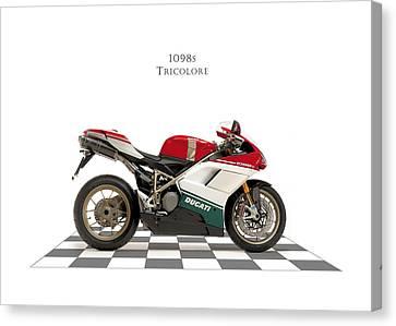 Ducati 1098s Tricolore Canvas Print by Mark Rogan