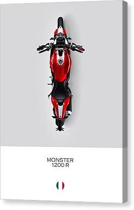 Ducati Monster 1200 R Canvas Print by Mark Rogan