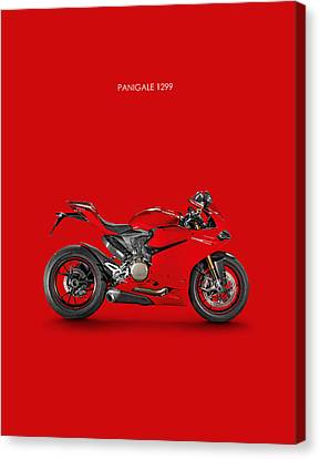 Ducati Panigale 1299 Canvas Print by Mark Rogan