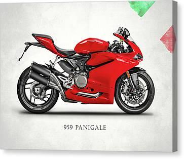 Ducati Panigale 959 Canvas Print by Mark Rogan