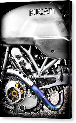 Ducati Ps1000le Engine Canvas Print by Tim Gainey