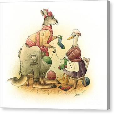 Duck And Kangaroo Canvas Print by Kestutis Kasparavicius