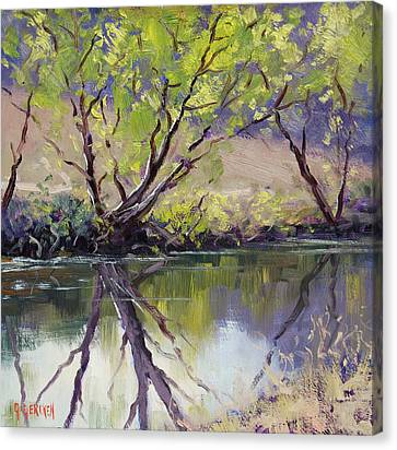 Duckmaloi River Reflections Canvas Print by Graham Gercken