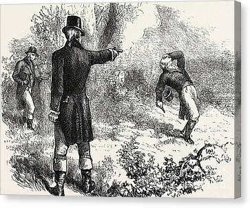 Duel Between Burr And Hamilton Canvas Print by American School