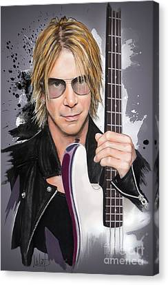 Duff Mckagan Canvas Print by Melanie D