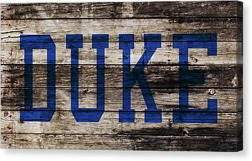 Duke Blue Devils 5a Canvas Print by Brian Reaves