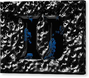 Duke Blue Devils 1b Canvas Print by Brian Reaves